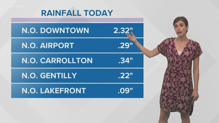 Showers wrap up this evening after strong storms bring familiar flooding