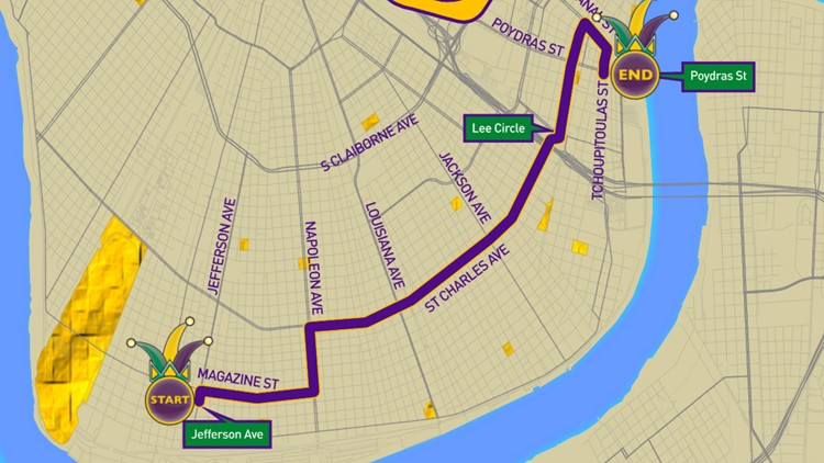 Krewe of Nyx 2020 parade route