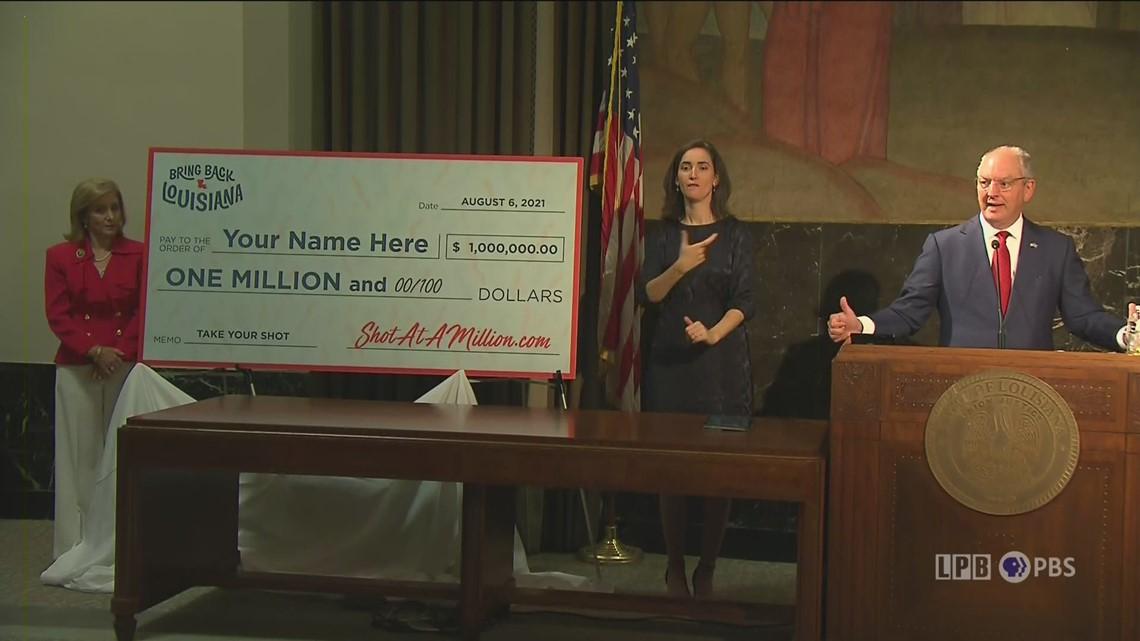 Louisiana announces $1 million COVID vaccine lottery