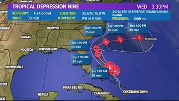 National Hurricane Center: TD 9 to become tropical storm within the next 24 hours