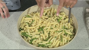 In the Kitchen: Pesto Pasta with Shrimp (2 of 3)