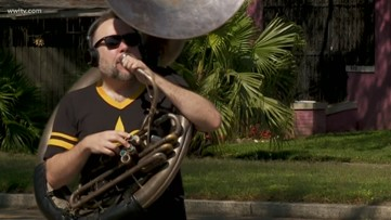 New Orleans tuba player joins musicians around the world to raise money for out of work musicians
