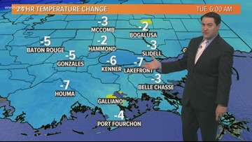New Orleans Weather: Cold front brings pleasant weather Tuesday