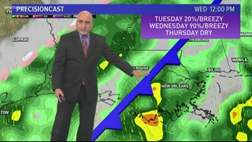 Pinpoint Forecast: Warming up today with storms tomorrow