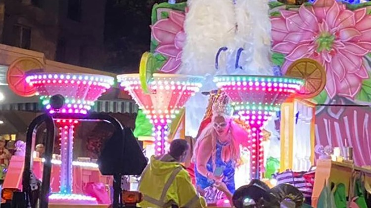 Woman dies after being run over by float in Nyx parade