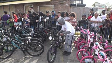 Hundreds of holiday bikes, toys gifted to New Orleans families in need