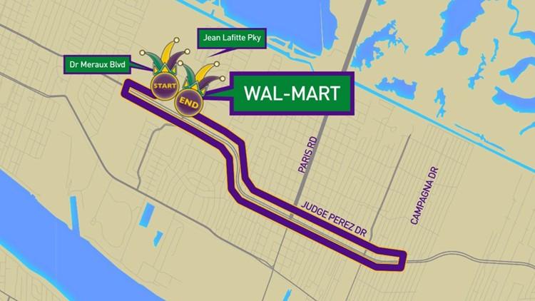 Krewe of Nemesis 2020 parade route