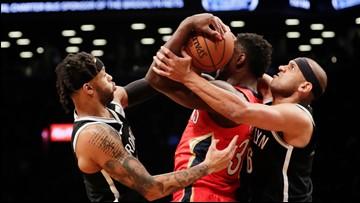 Nets build big lead, hold off Davis, Pelicans 126-121