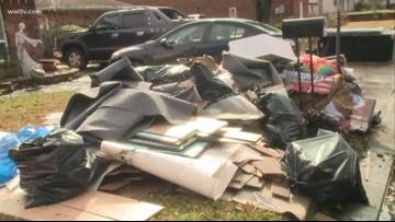 Heavy rain floods homes and roads across southeast Louisiana