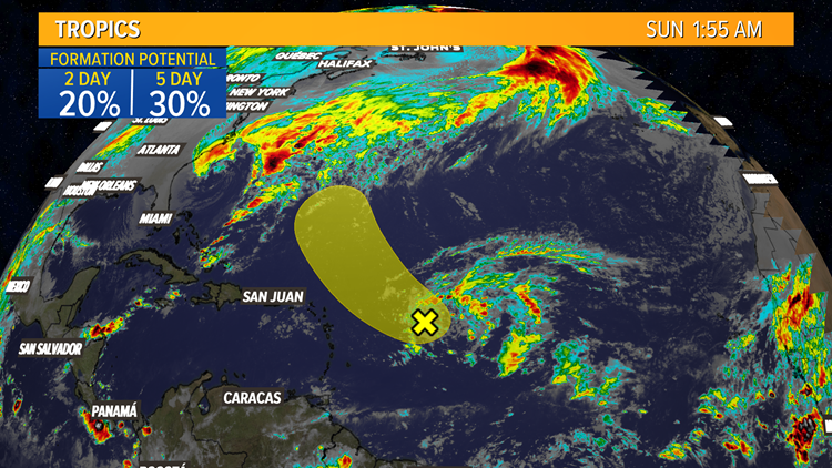 Low Chance for development in the Atlantic