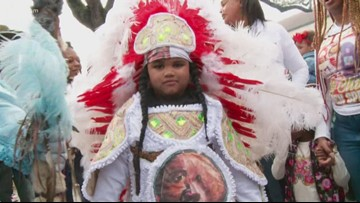 Mardi Gras Indians don immaculate suits in 50th annual Uptown Super Sunday