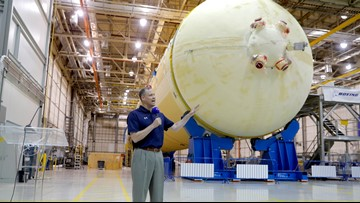 Top NASA official gets look at next moon rocket in New Orleans