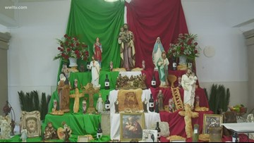 Families gather at St. Joseph altars around New Orleans