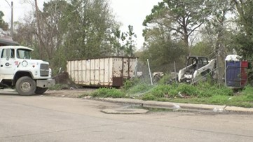 10 years later - Algiers demolished apartment complex being cleaned up