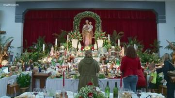 Families gather around St. Joseph's Day altars around New Orleans metro area