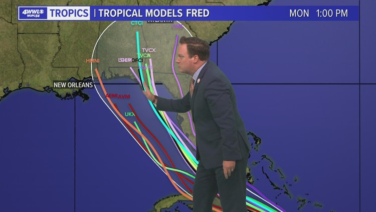 Wednesday 4 PM Tropical Update: Tropical Storm Fred expected to make landfall in Florida