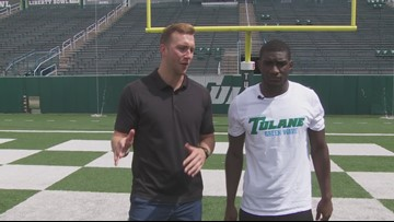 100 yards with the Green Wave: Corey Dauphine