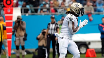 Saints bury Panthers, but wind up without bye