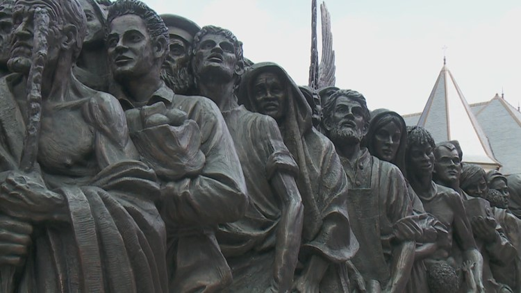 'Angels Unawares' statue arrives in New Orleans with pro-immigration message