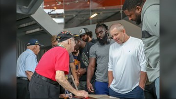 Saints visit WWII museum for final day of off-season training