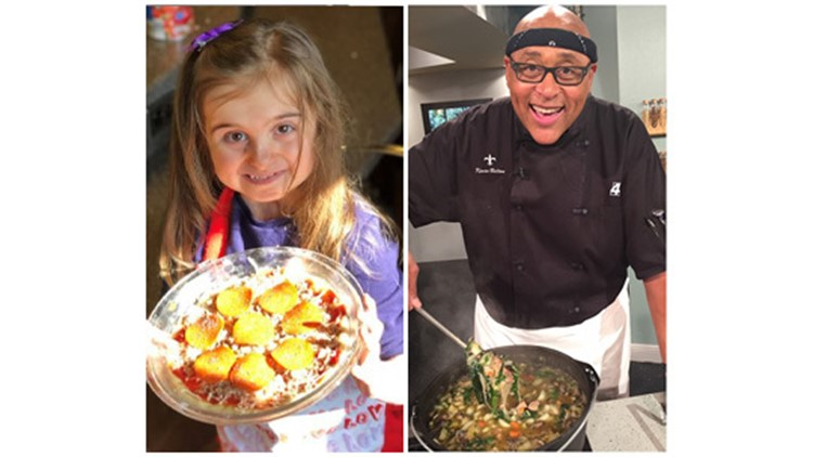 She's never tasted food, but little chef shares her love for cooking