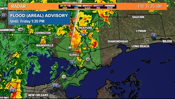 Flood advisory for Orleans, St. Tammany parishes until 1:30 p.m.