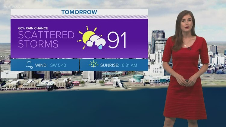 Scattered storms return on Tuesday