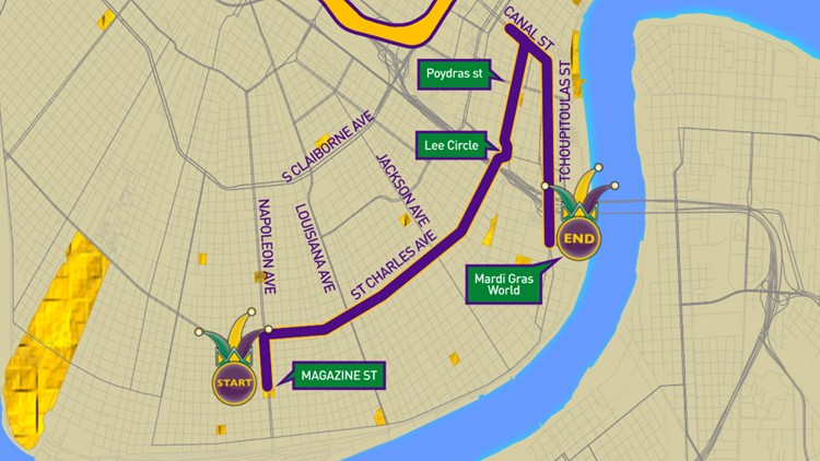 Krewe of Freret parade route