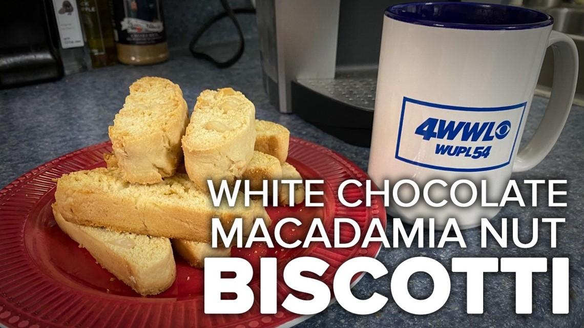 Recipe: White Chocolate Macadamia Biscotti