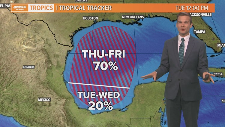 Tuesday midday tropical update: Depression expected by Friday