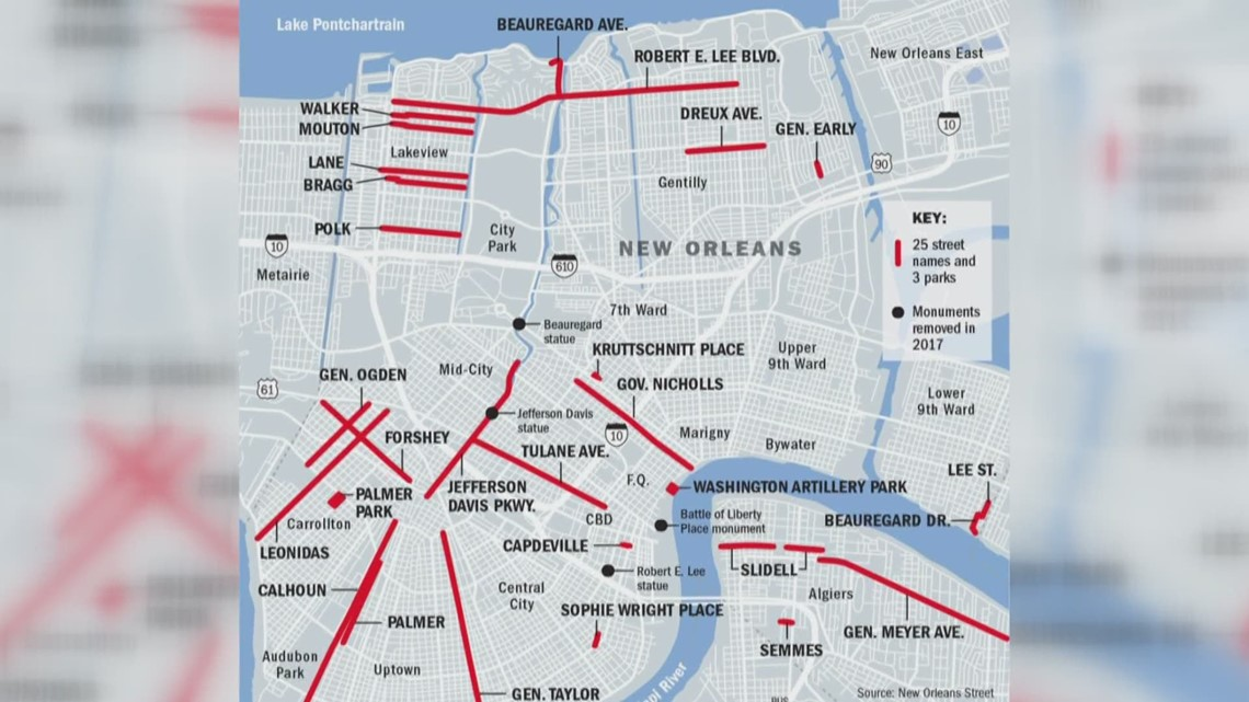 renaming commission makes final recommendations for New Orleans streets