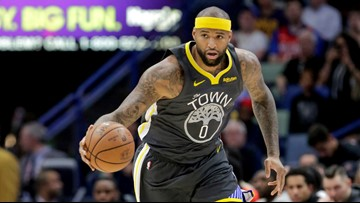 Cousins leads Warriors past Pelicans; Curry leaves hurt
