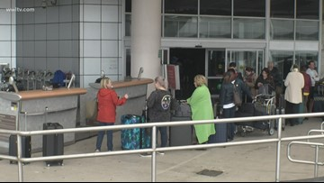 Airport power outage leaves travelers in the dark after Olga