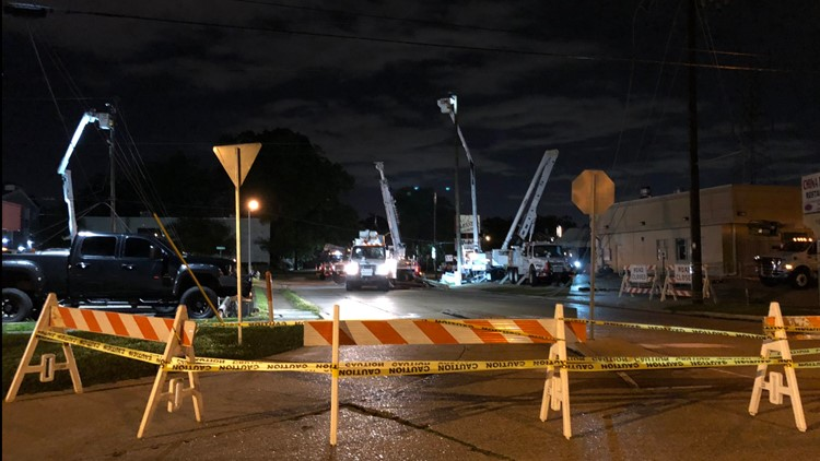Thousands lose power as storms move through Southeast Louisiana