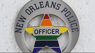New Orleans police sport Pride badges for Southern Decadence
