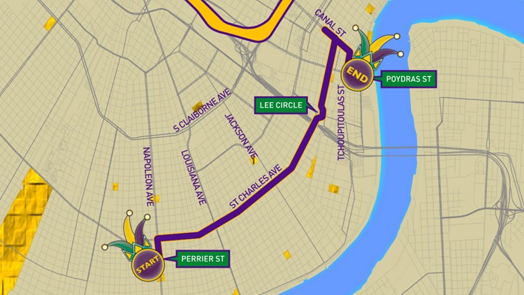Krewe of Oshun 2019 parade route