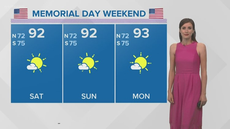 Temperatures increase through the weekend