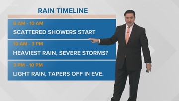 Pinpoint Forecast: Milder Friday, Heavy Rain on Saturday