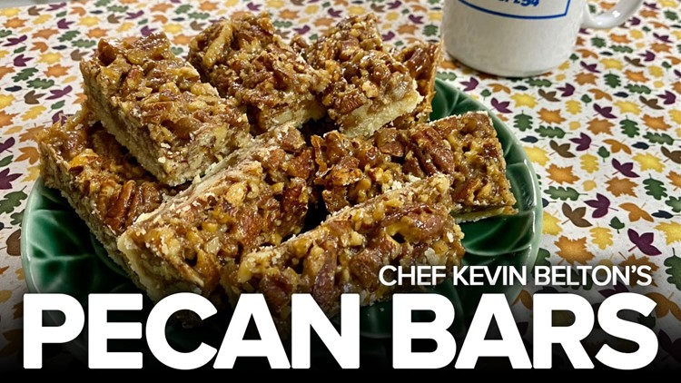 Recipe: Chef Kevin Belton's Pecan Bars