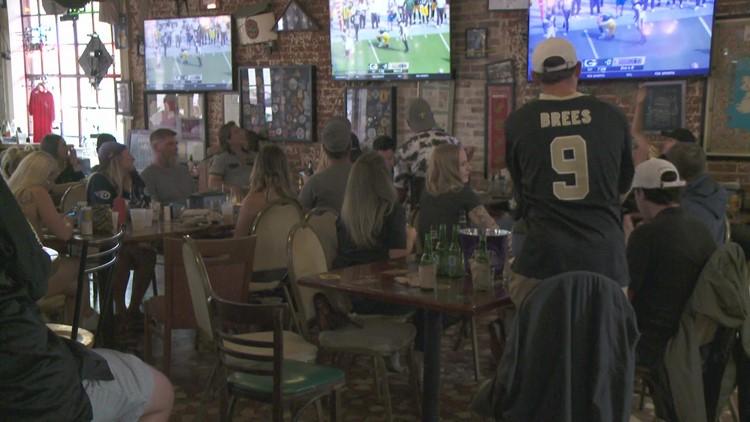 Saints fans happy for a distraction