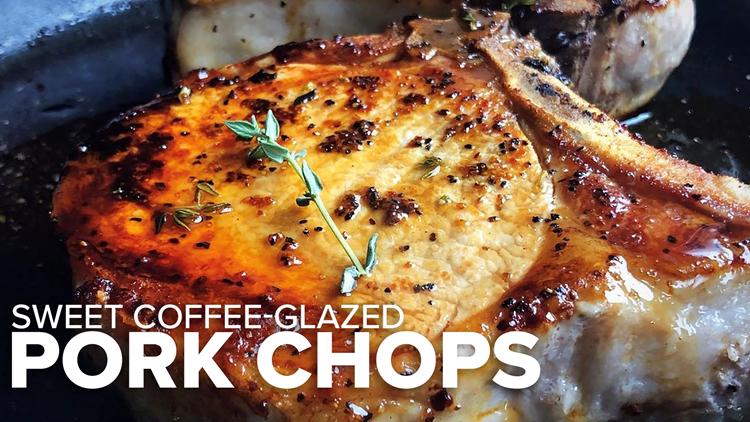 Recipe: Sweet Coffee-Glazed Pork Chops & Midnight Coffee Cake