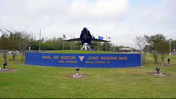 100 military planes training at Belle Chasse base this weekend