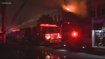 Four people rescued from large 5-alarm fire in Central City