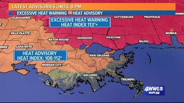 Excessive Heat Warning issued for Northshore as heat index above 113°F possible