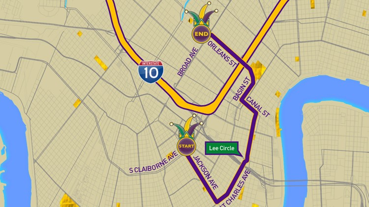 Krewe of Zulu parade route