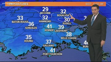 A sunny, cold and breezy Wednesday