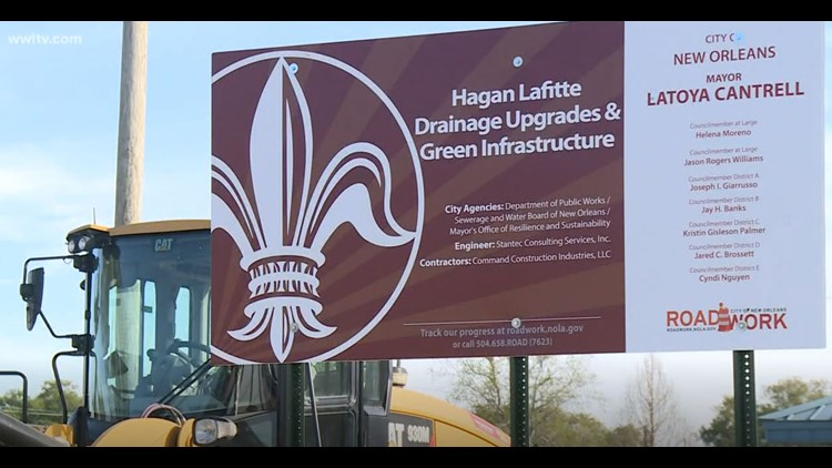 Construction starts on green drainage project to help fight flooding in Mid-City, Treme