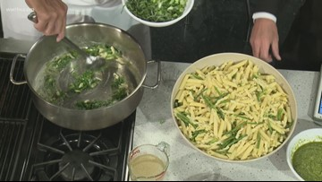 Recipe: Chef Kevin Belton's Pesto Pasta with Shrimp