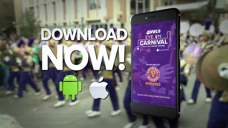 Download the 2020 WWL-TV Mardi Gras parade tracker app