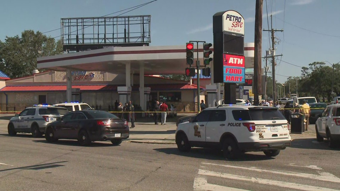 Homicide outside Gentilly gas station